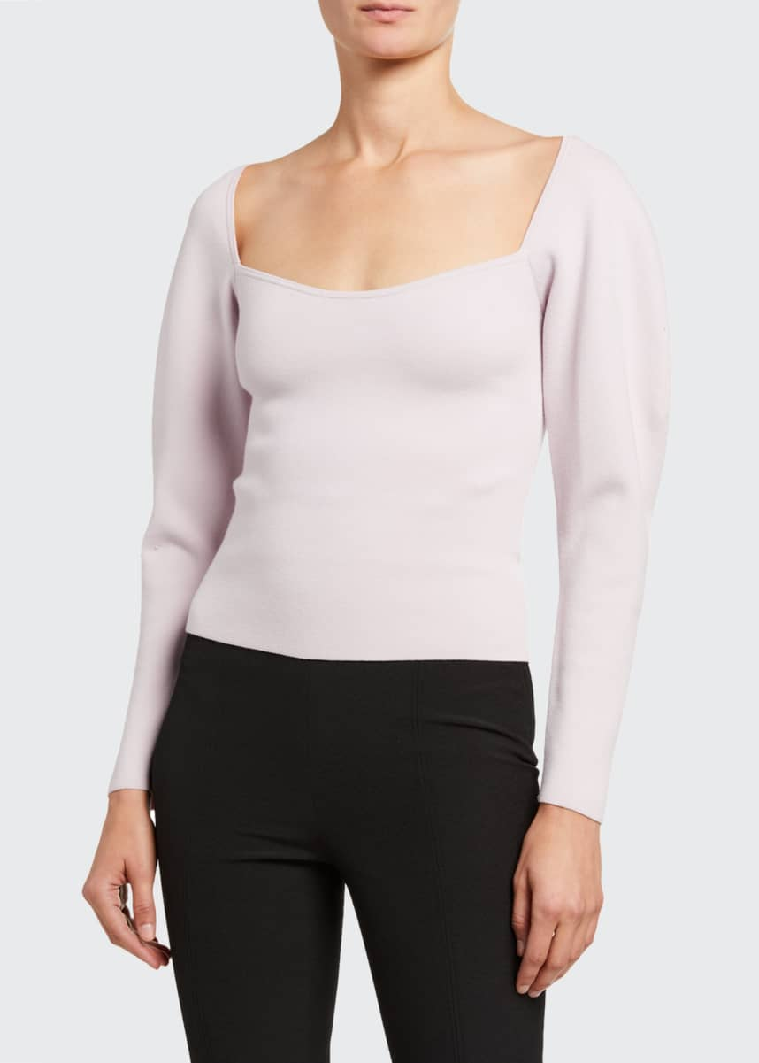 A.L.C. Misah Square-Neck Top