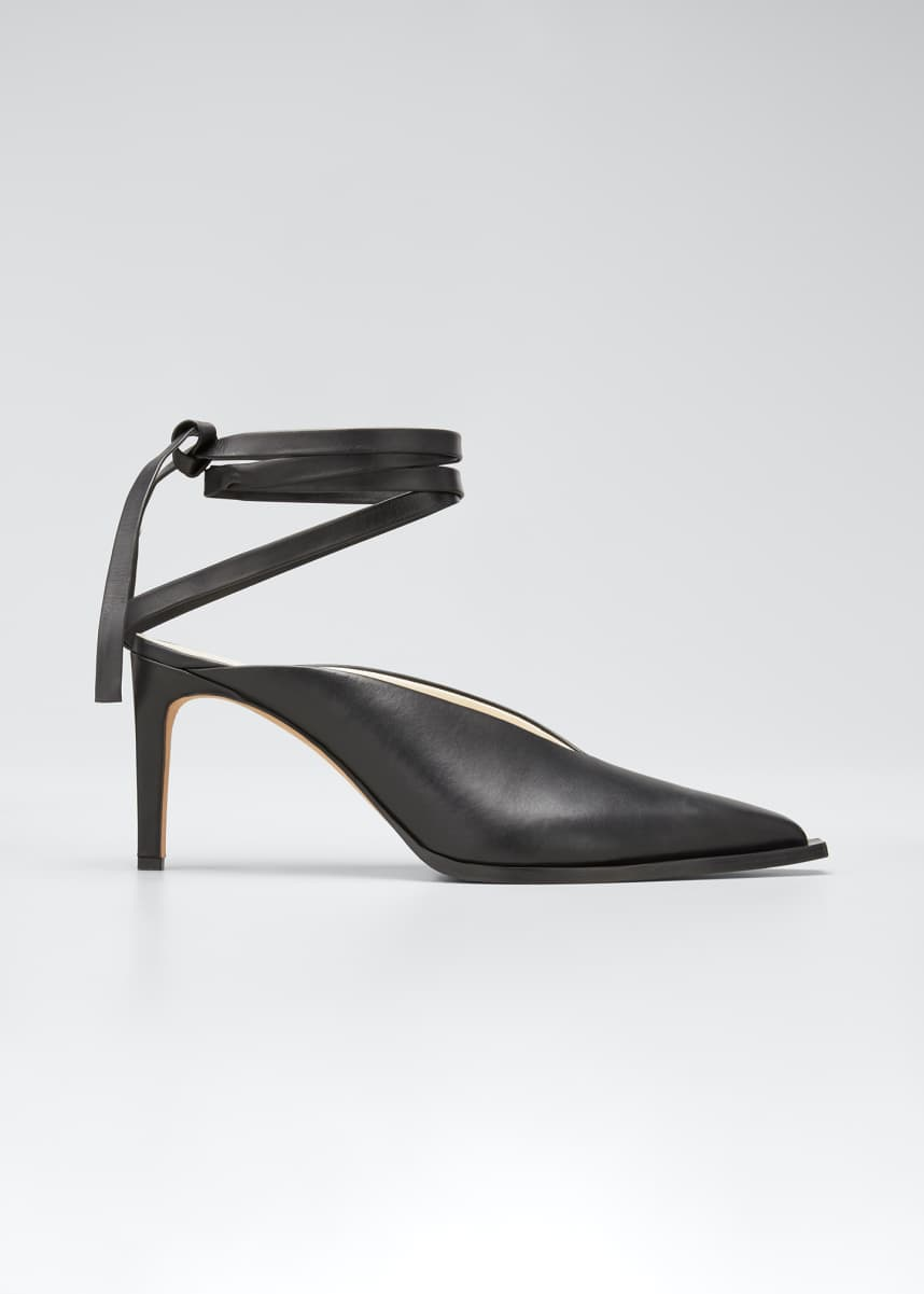 Tibi Shyah Satin Sandals