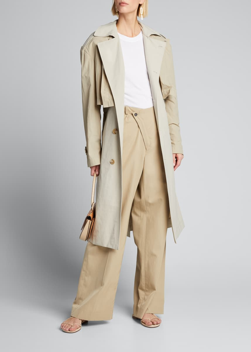 Deveaux New York Ramya Convertible Trench Coat