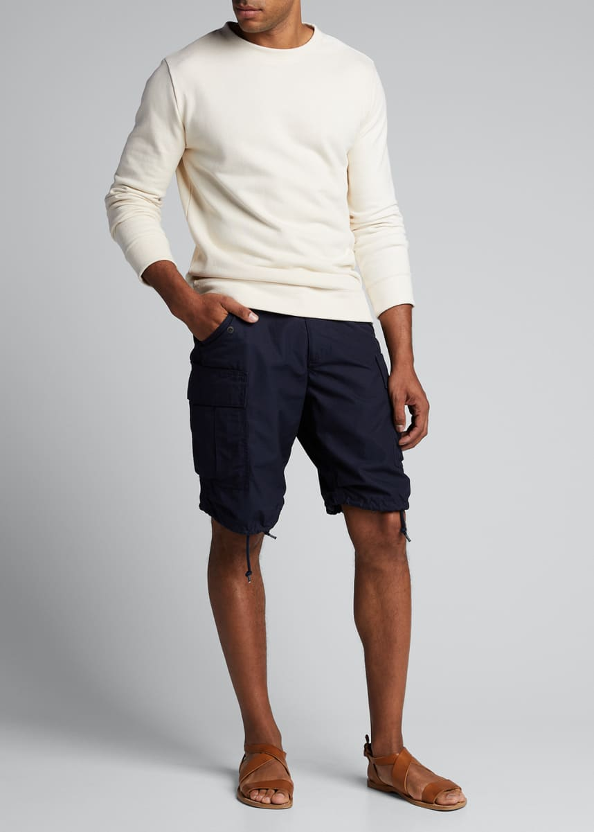 A.P.C. Men's Solid Organic Cotton Crewneck Sweater