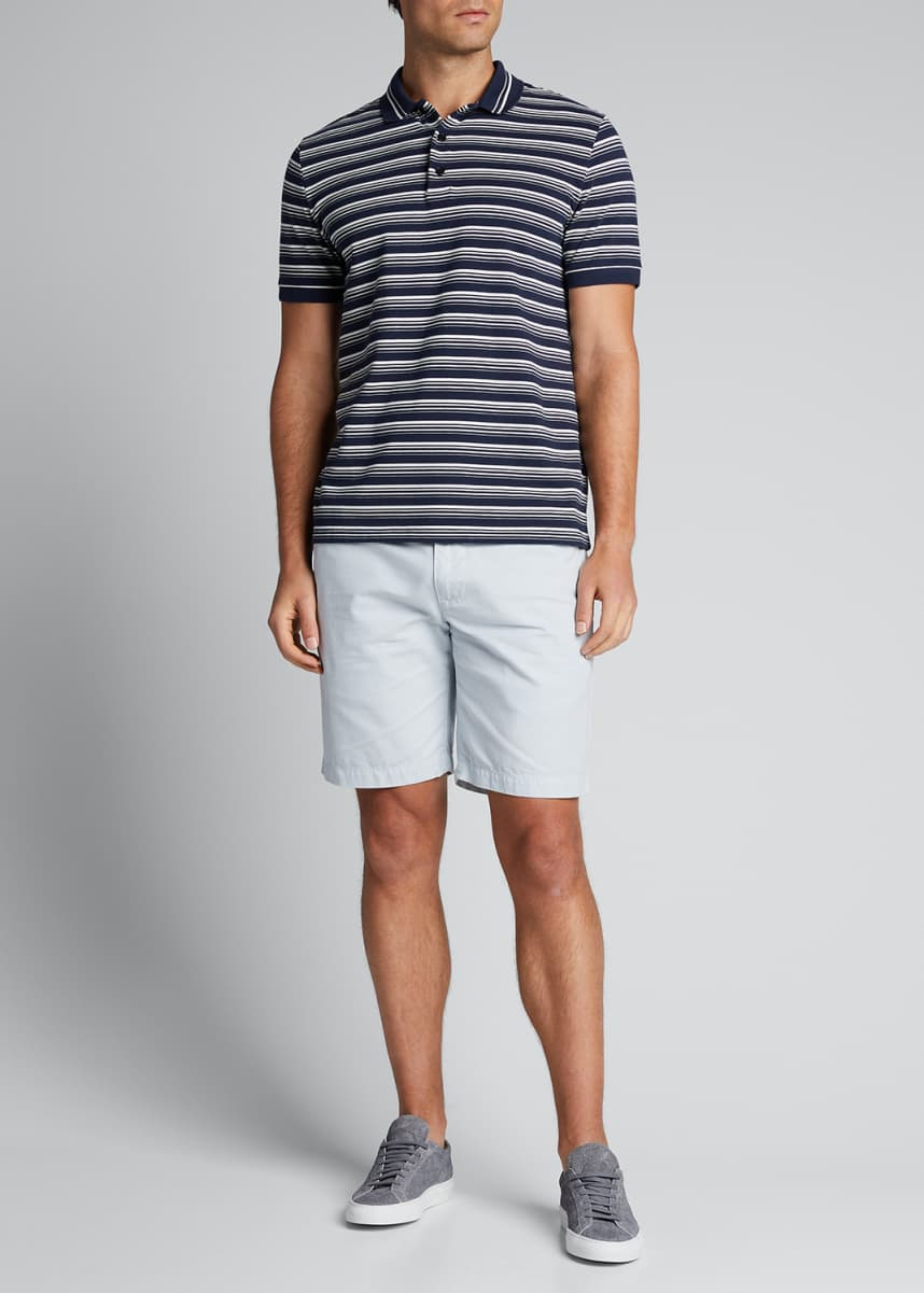 A.P.C. Men's Pique Stripe Polo Shirt