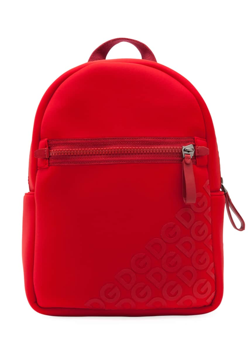 Dolce & Gabbana Kid's Stamped Logo Neoprene Backpack