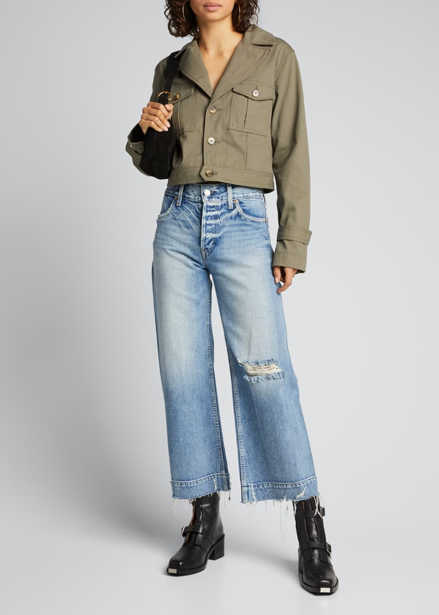TRAVE Audrey Cropped Wide-Leg Jeans