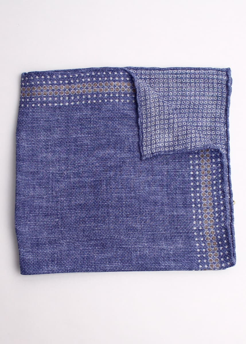 Brunello Cucinelli Circle-Border Pocket Square