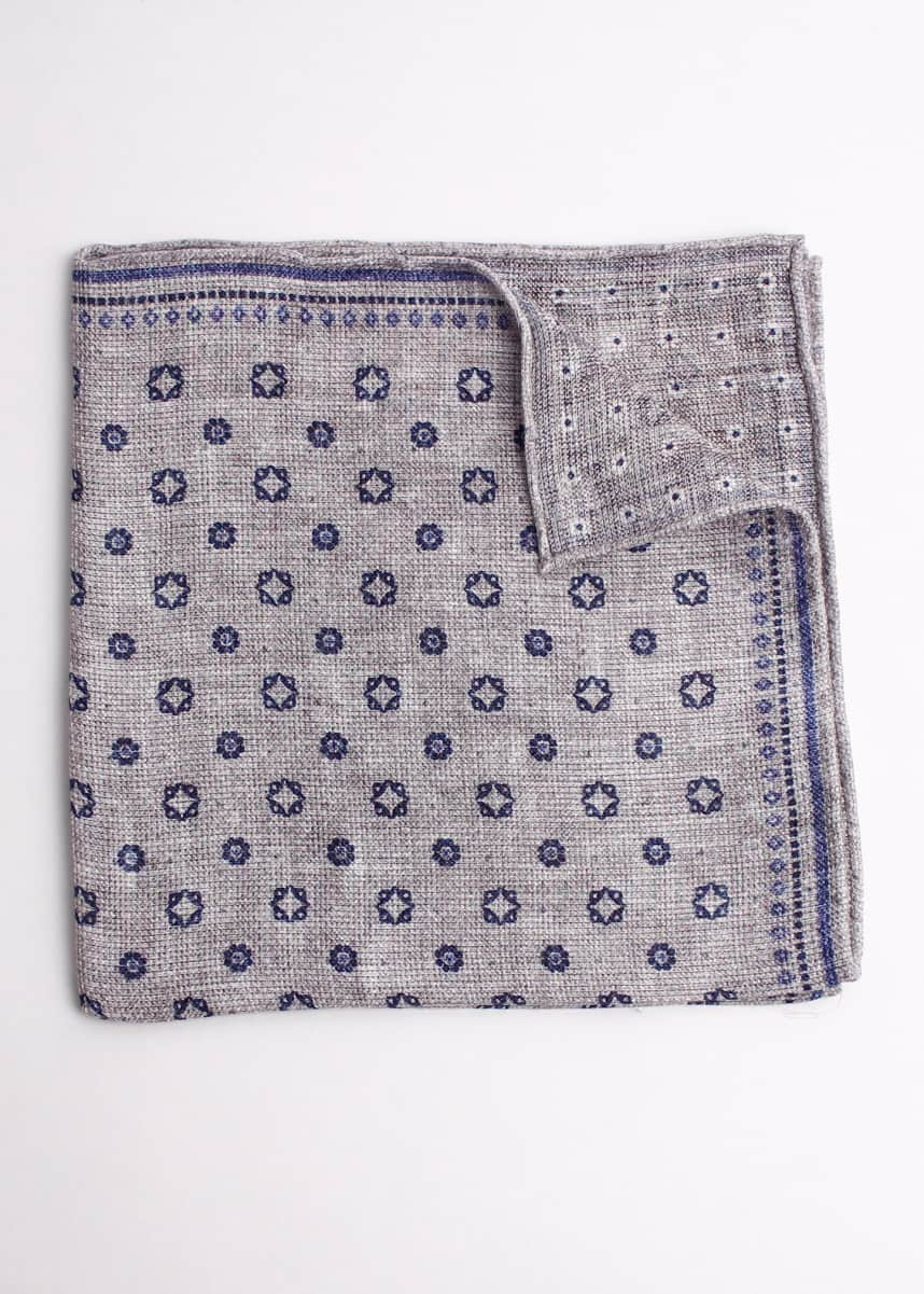 Brunello Cucinelli Medallion Circle Pocket Square