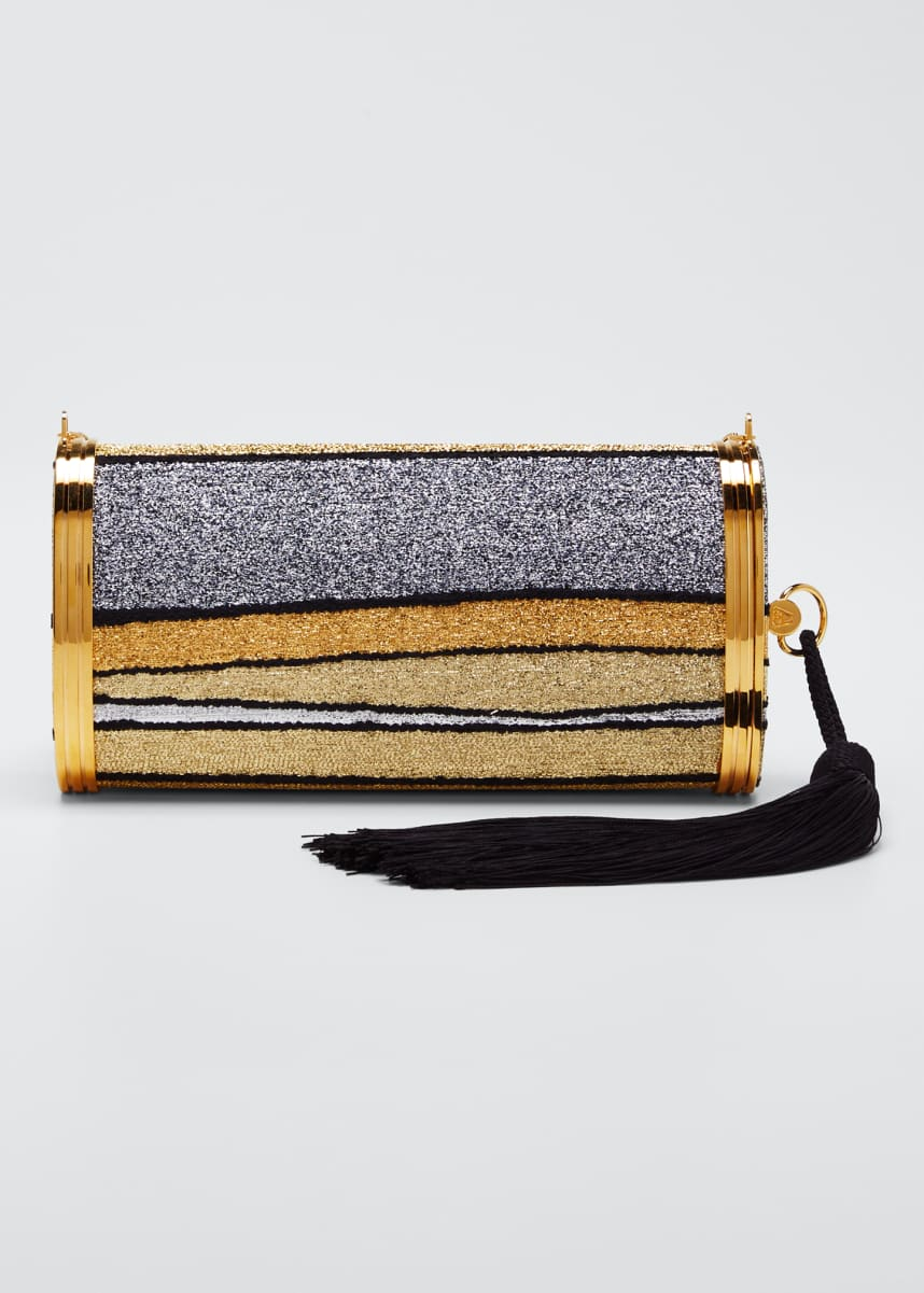 Bienen Davis Mori Halcyon Metallic Clutch Bag