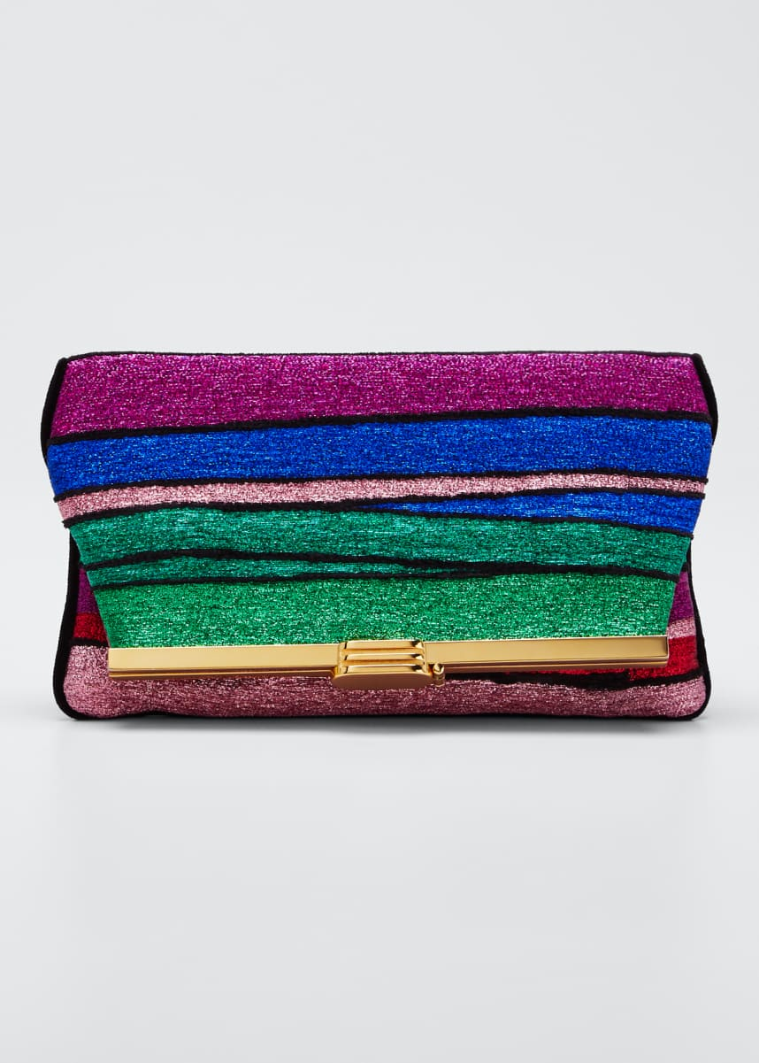 Bienen Davis Halcyon Metallic Rainbow Clutch Bag