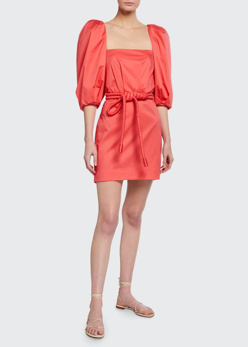 Johanna Ortiz Camelia Rhythm Mini Dress With Belt