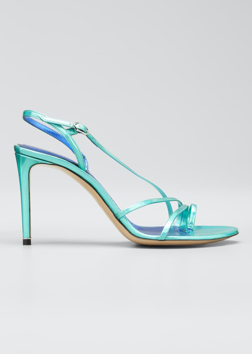 Nicholas Kirkwood Elements 85mm Iridescent Toe-Loop Sandals