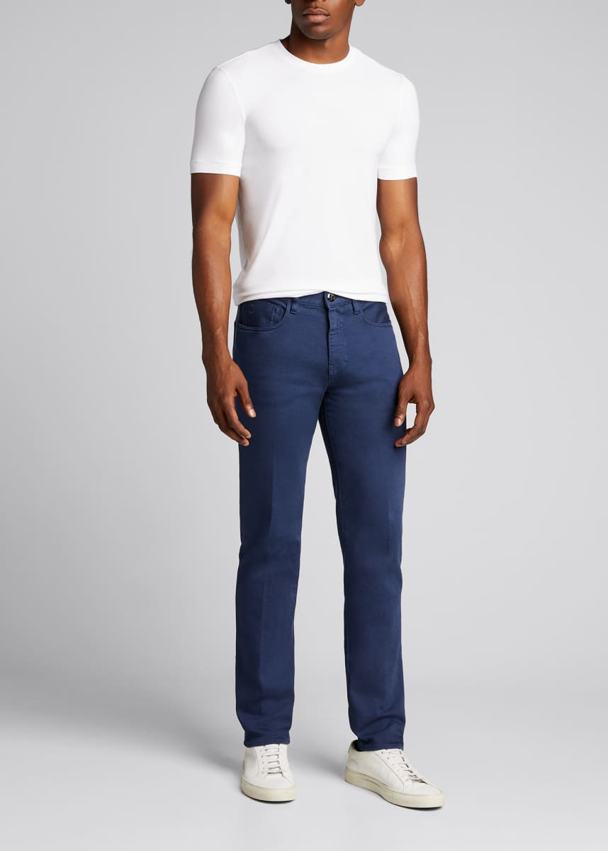 Giorgio Armani Men's Relaxed Slim Five-Pocket Jeans