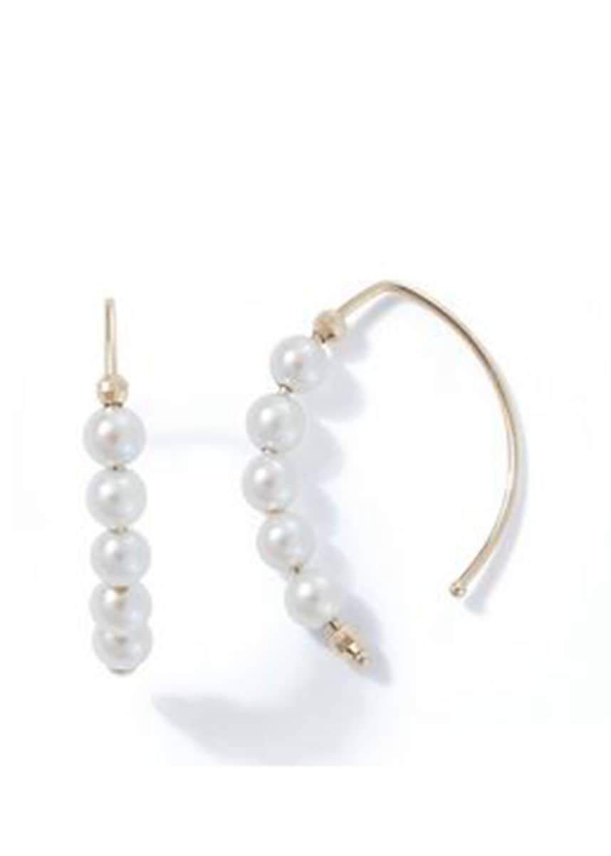 Mizuki 14k Small Marquise Pearl Earrings