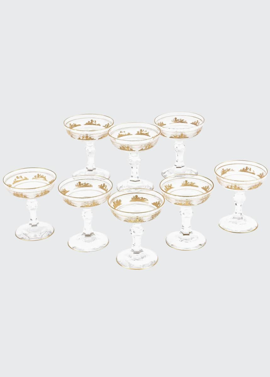 Devonia Antiques Champagne Coupes, Set of 8