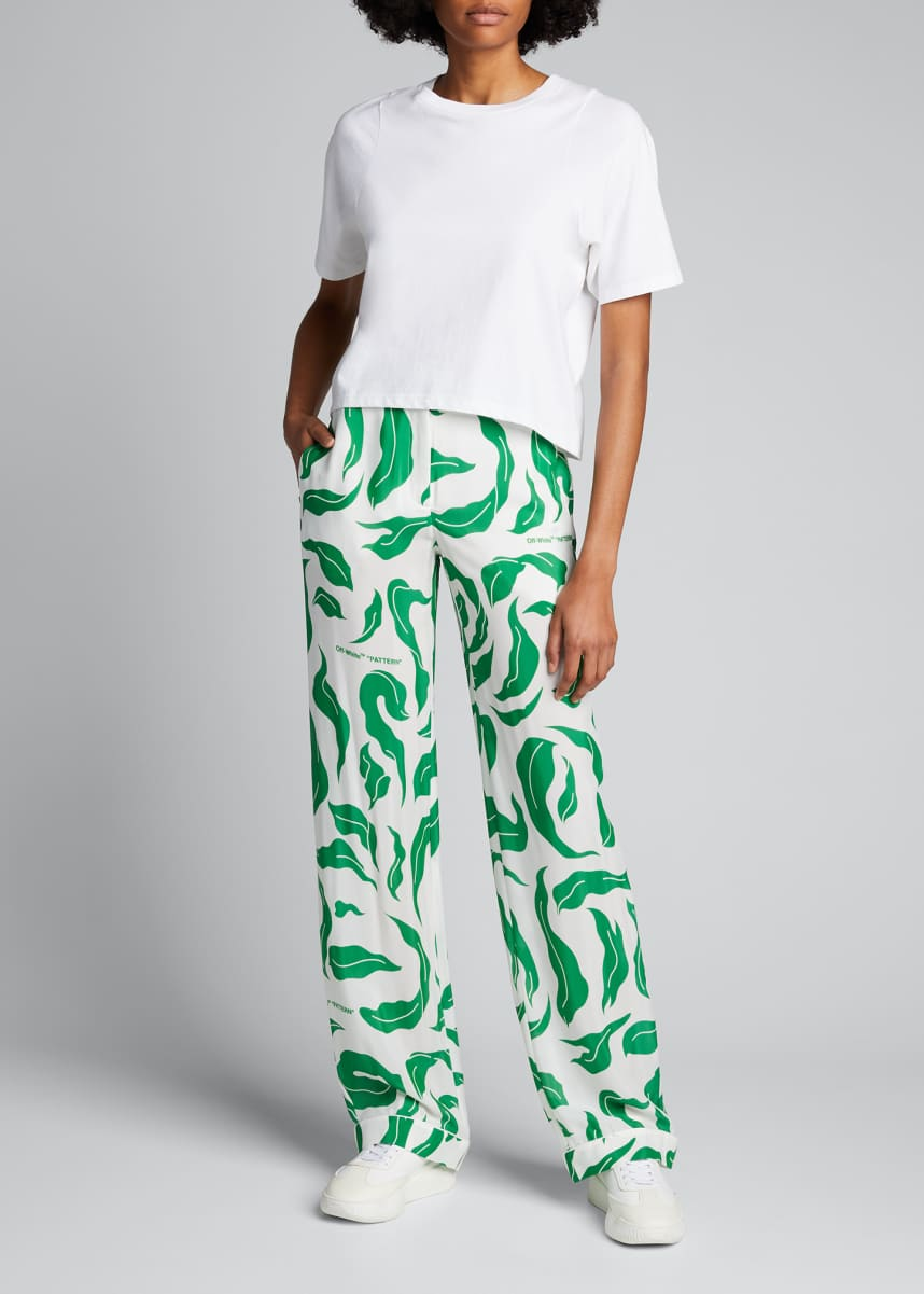 Off-White Leaves Pajama Pants