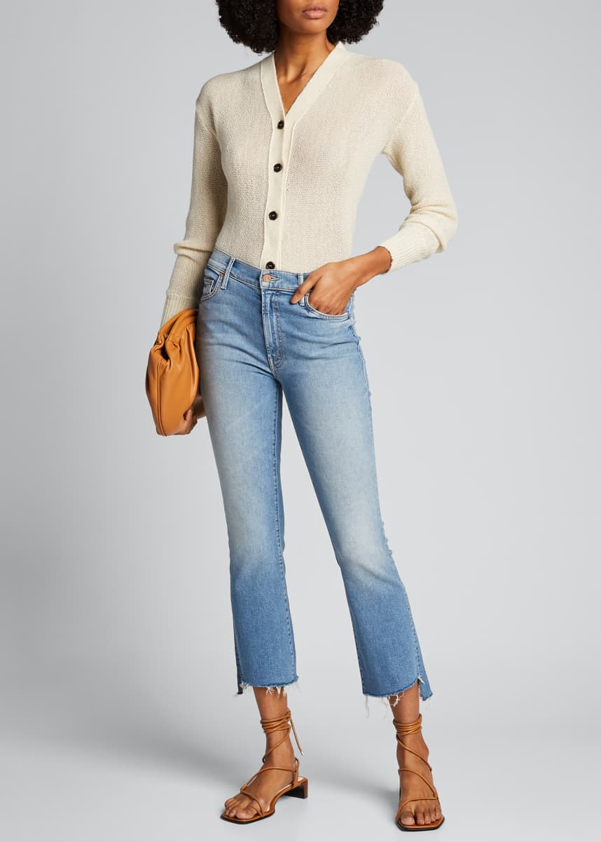 MOTHER Insider Cropped Step Fray Jeans