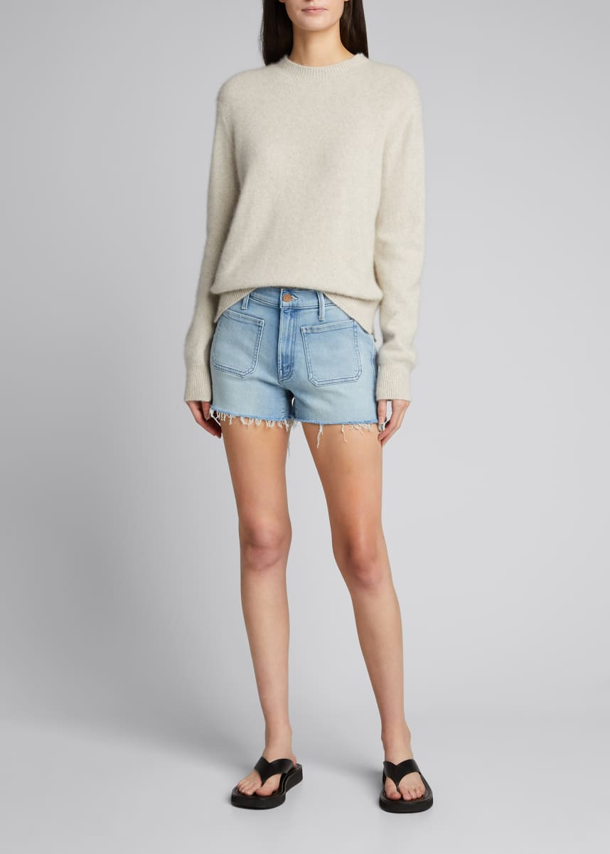 MOTHER The Patchie Denim Shorts