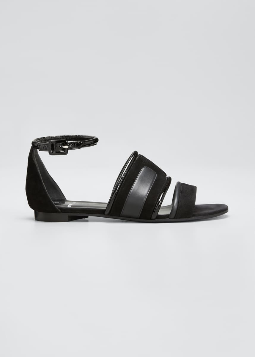 Pierre Hardy Targa Flat Strappy Sandals