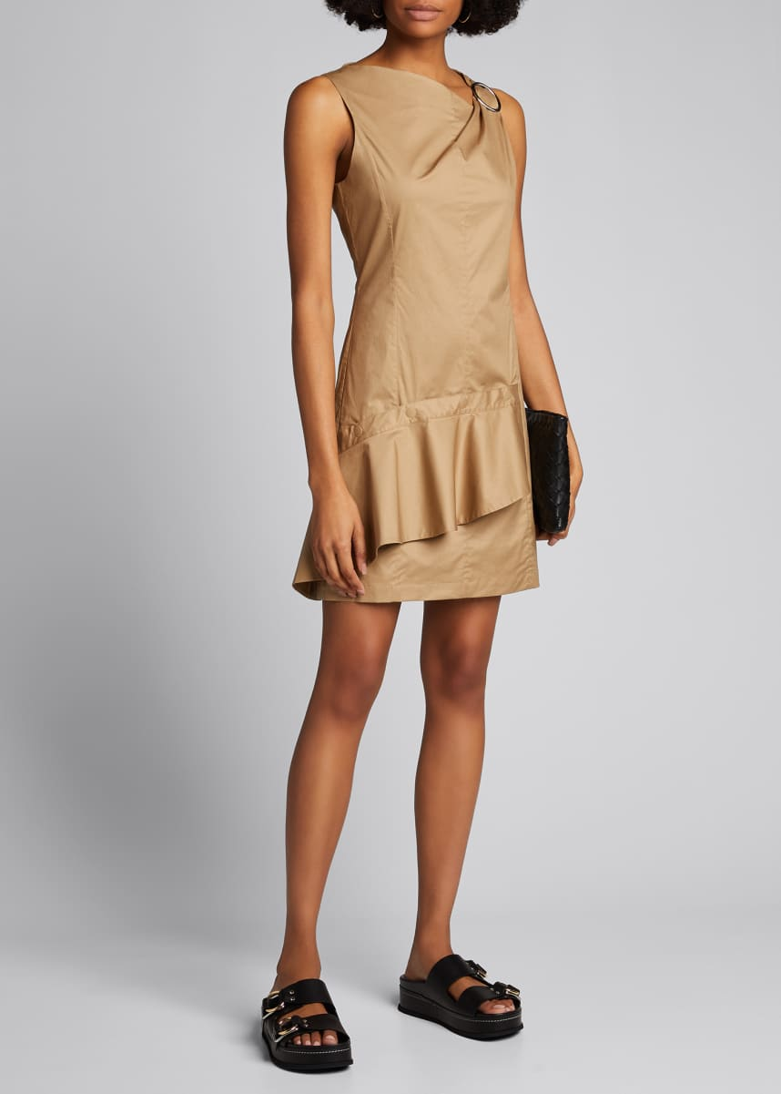 3.1 Phillip Lim Ruffle Dress with Gathered Ring