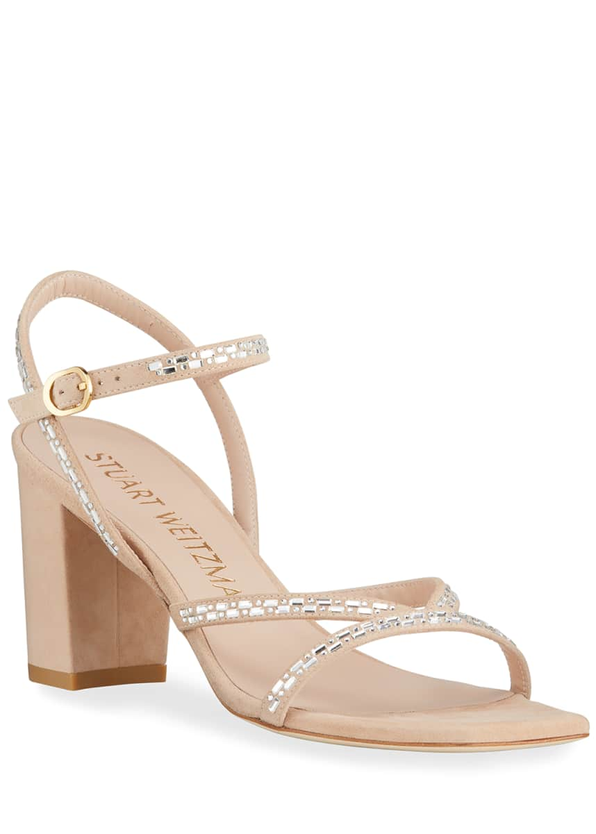 Stuart Weitzman Harlowe 70 Beaded Sandals