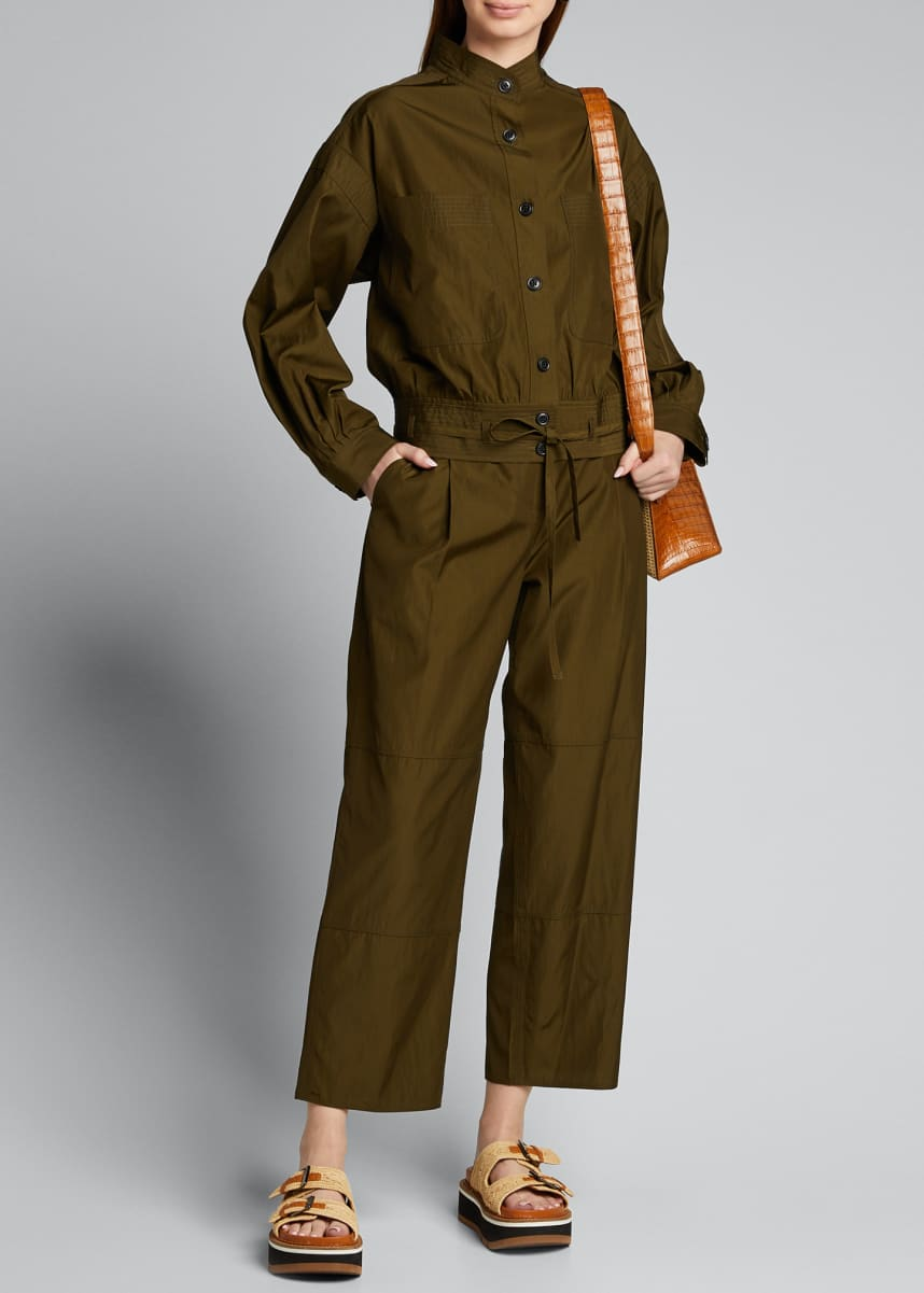Jason Wu Cropped Workwear Belted Pants