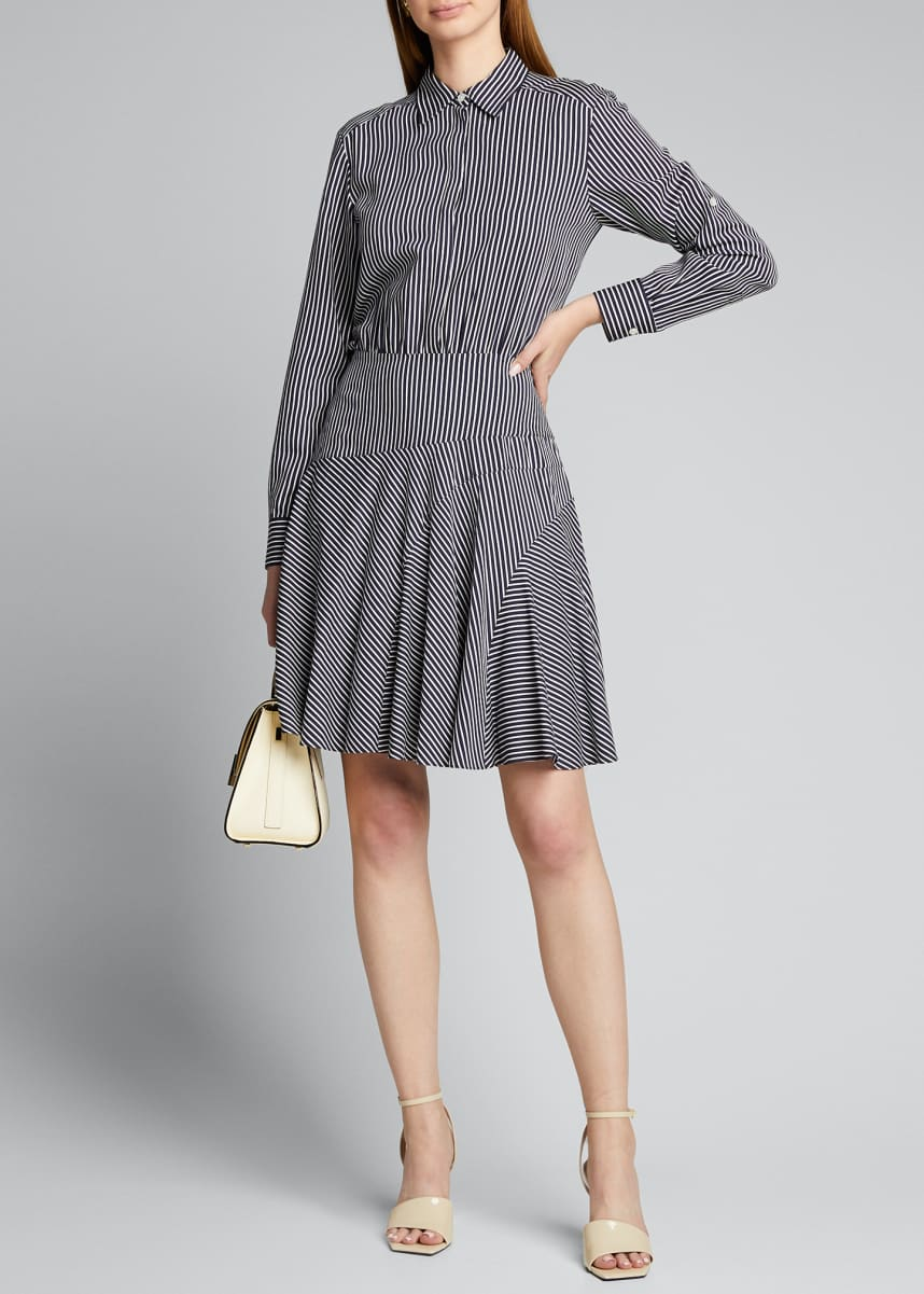 Jason Wu Striped Asymmetric Shirtdress