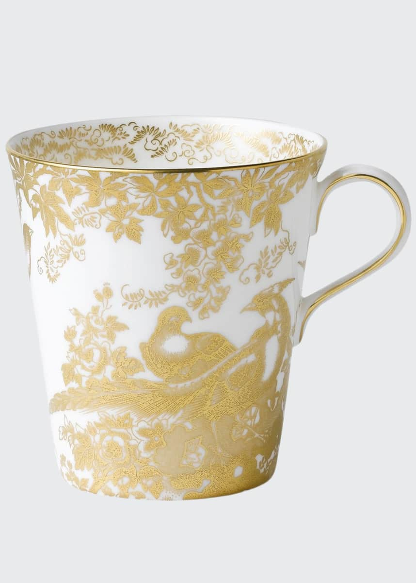 Royal Crown Derby Aves Gold Beaker Mug