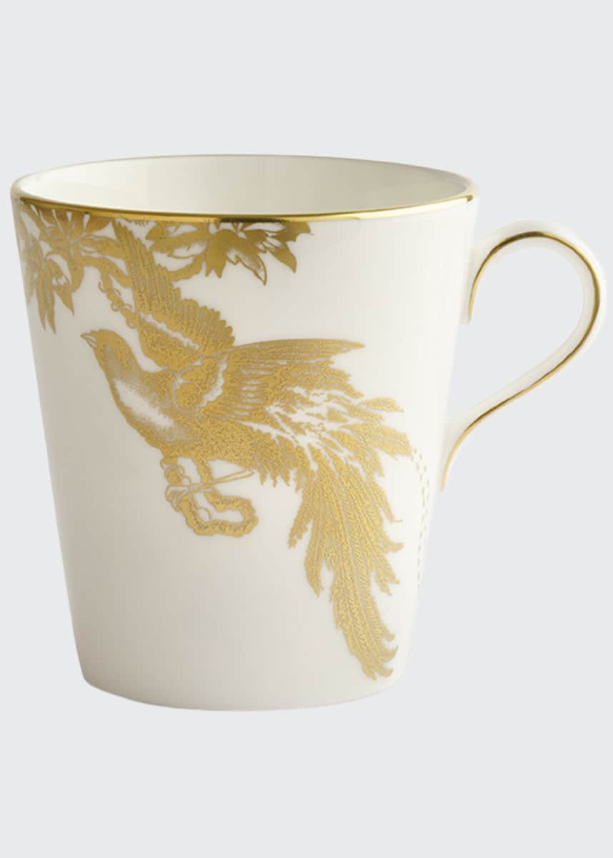 Royal Crown Derby Aves Gold Motif Beaker Mug