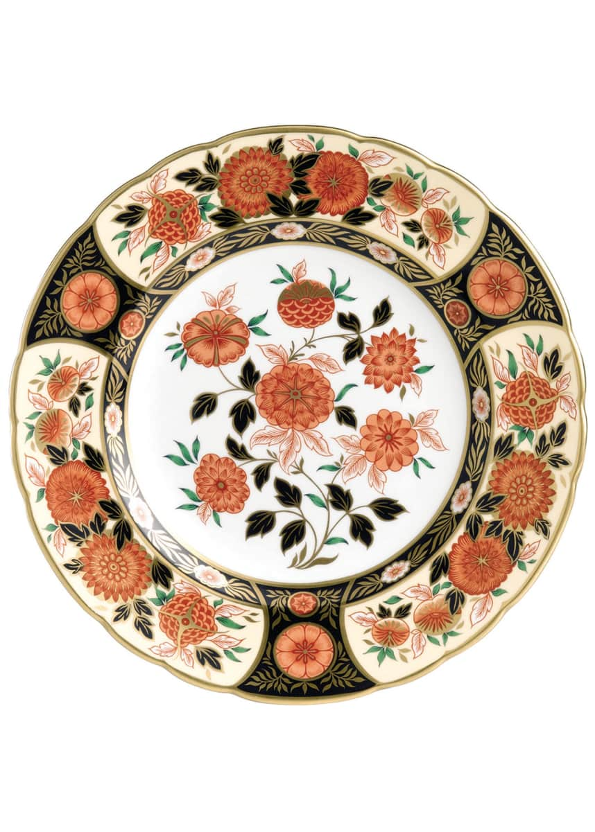 Royal Crown Derby Imari Antique Chrysanthemum Accent Plate
