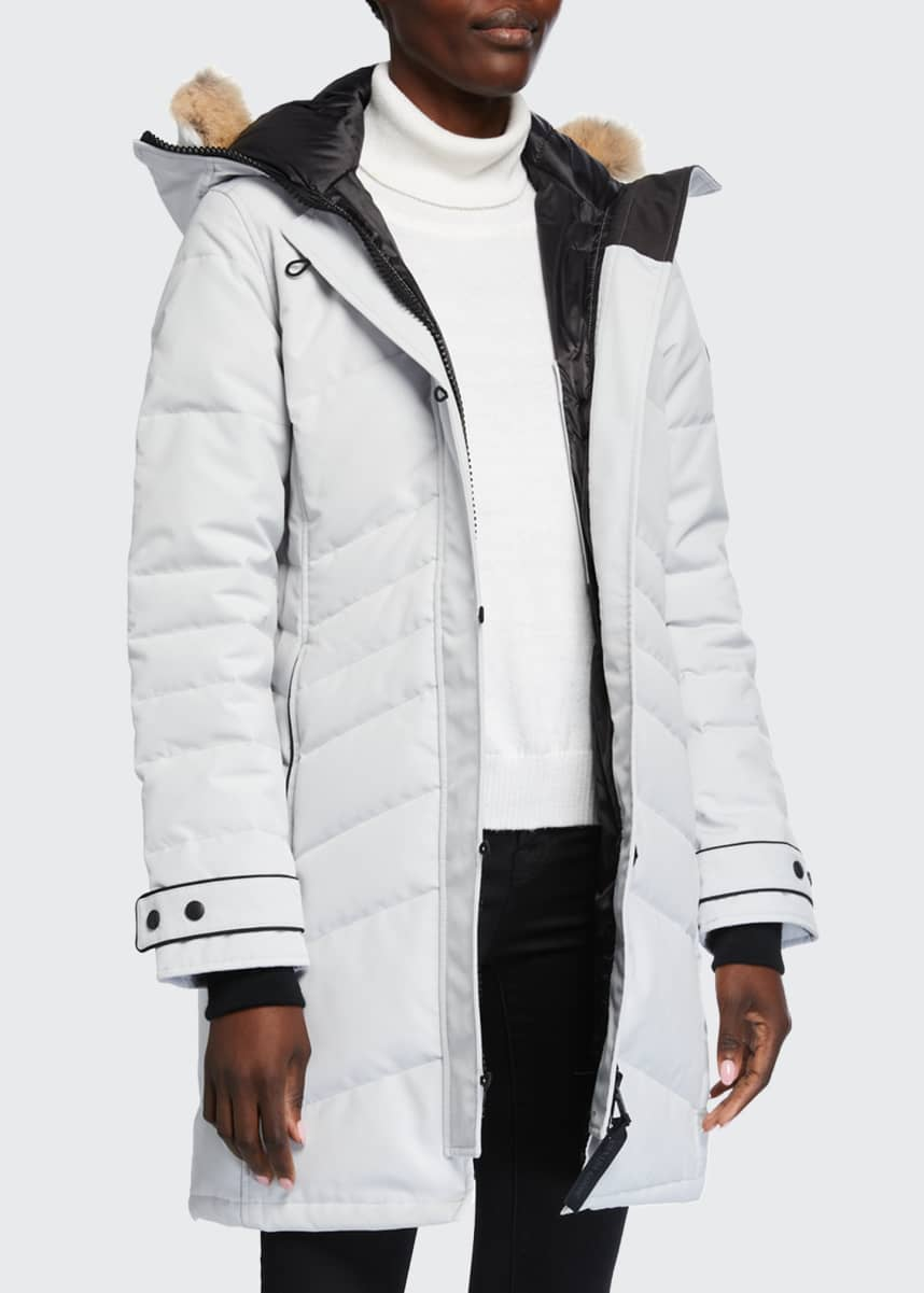 Canada Goose Lorette Coyote Fur-Trim Hooded Parka