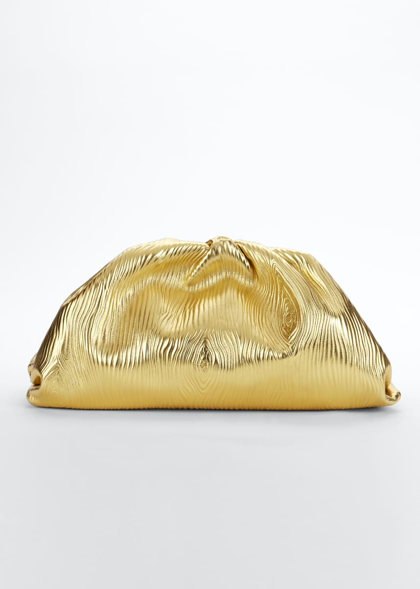 Bottega Veneta Large Metallic Pouch Bag