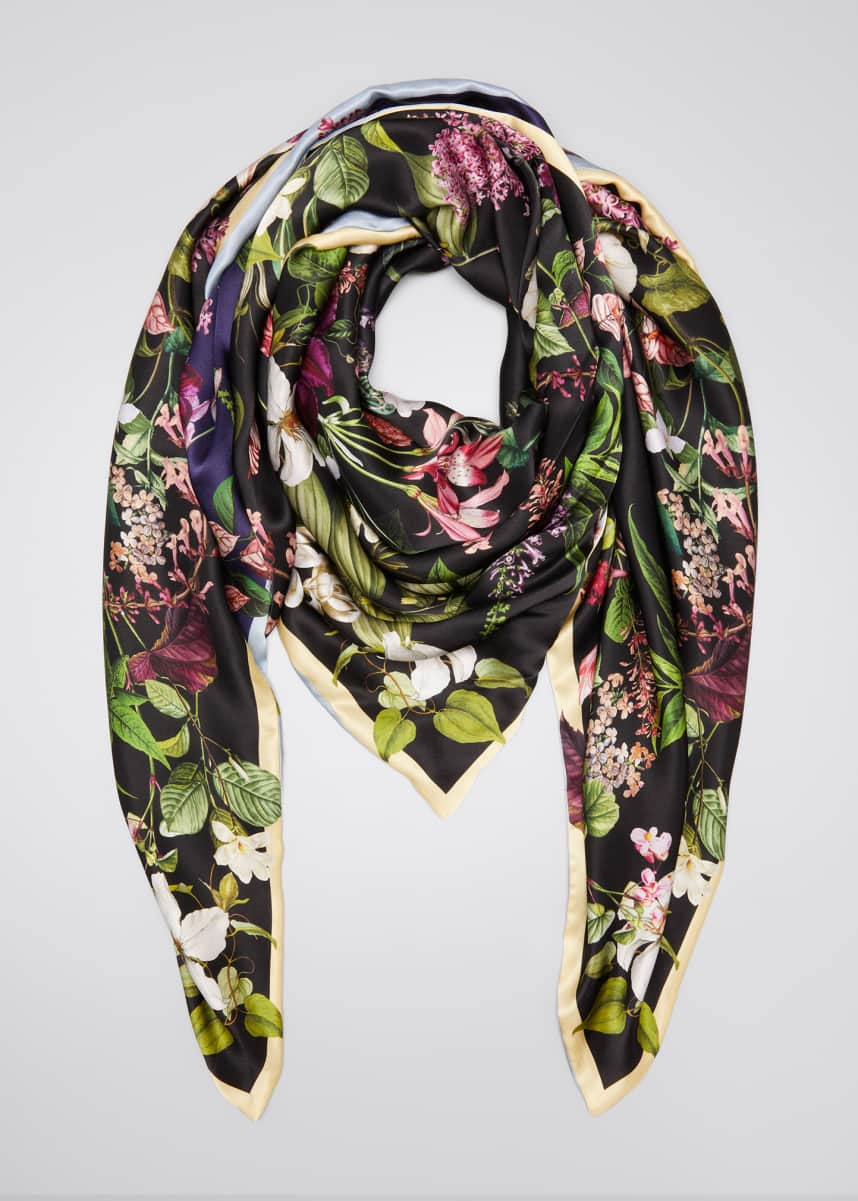 St. Piece Lena Double Sided Silk Scarf