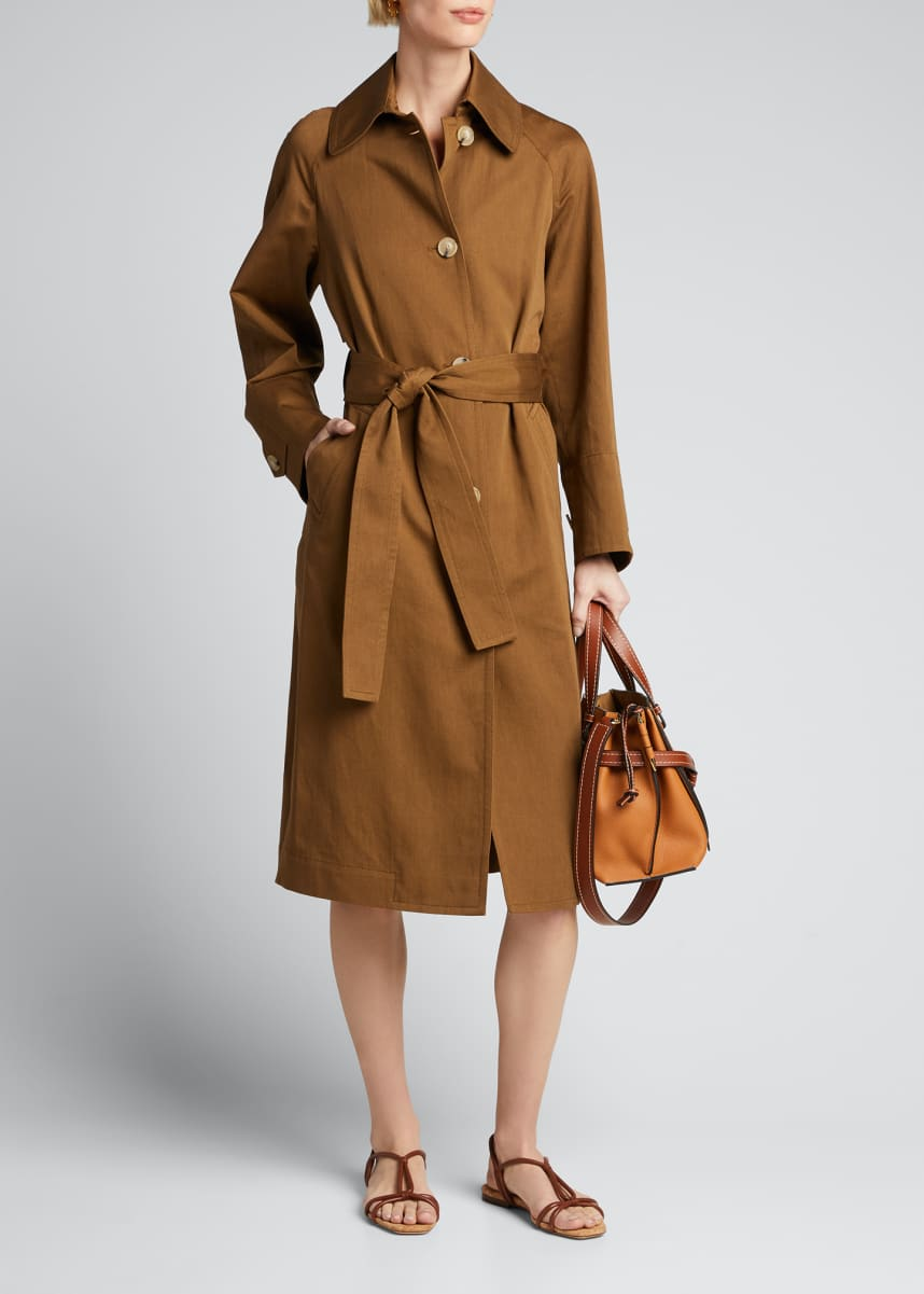 Vince Textured Belted Overcoat