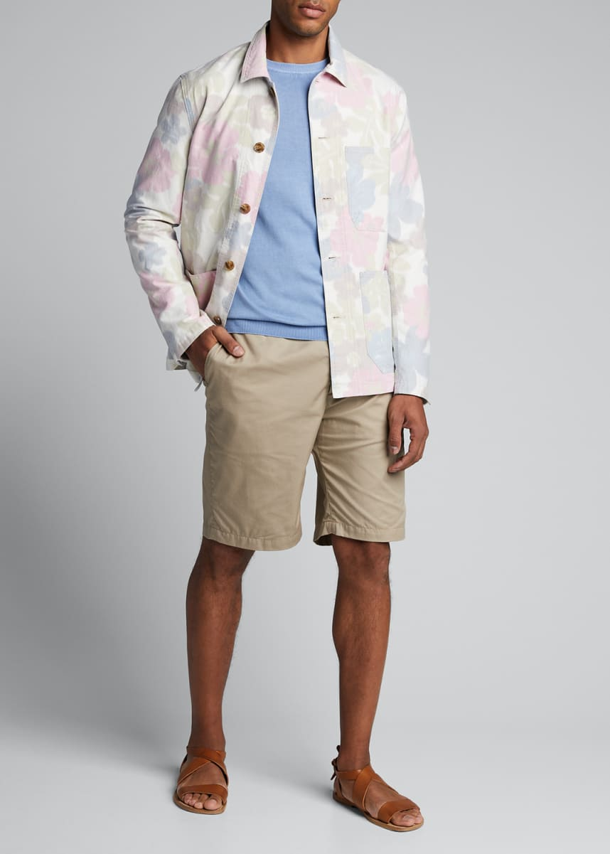 Closed Men's Floral-Print Worker Jacket