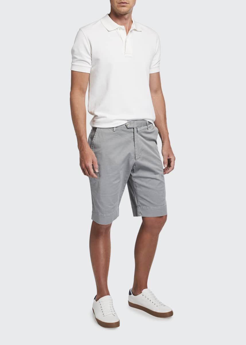 Isaia Men's Basketweave Bermuda Shorts