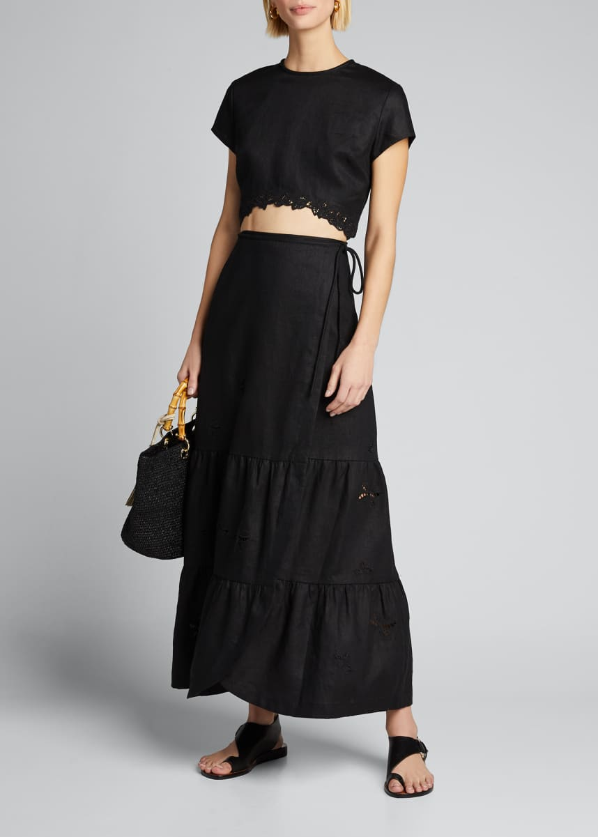 SIR The Label Alena Wrap Maxi Skirt