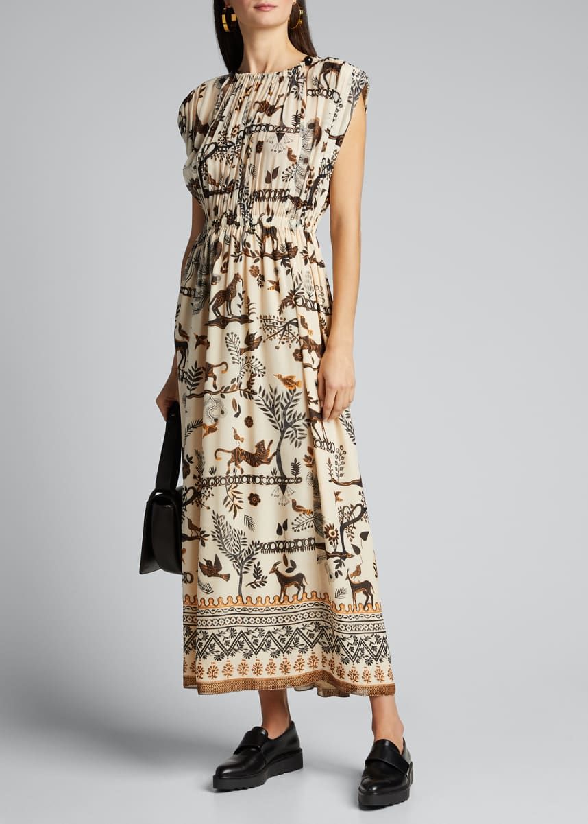 Saloni Sinead Sleeveless Printed Dress