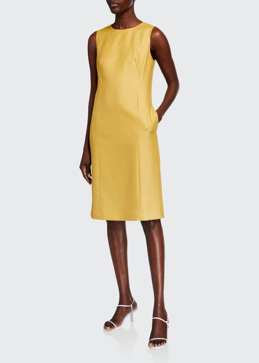 Lafayette 148 New York Suzanne Sleeveless Studio Weave Dress
