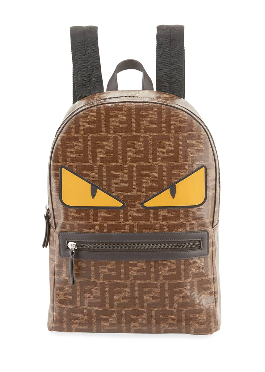 Fendi Kid's FF Print Monster Eyes Backpack