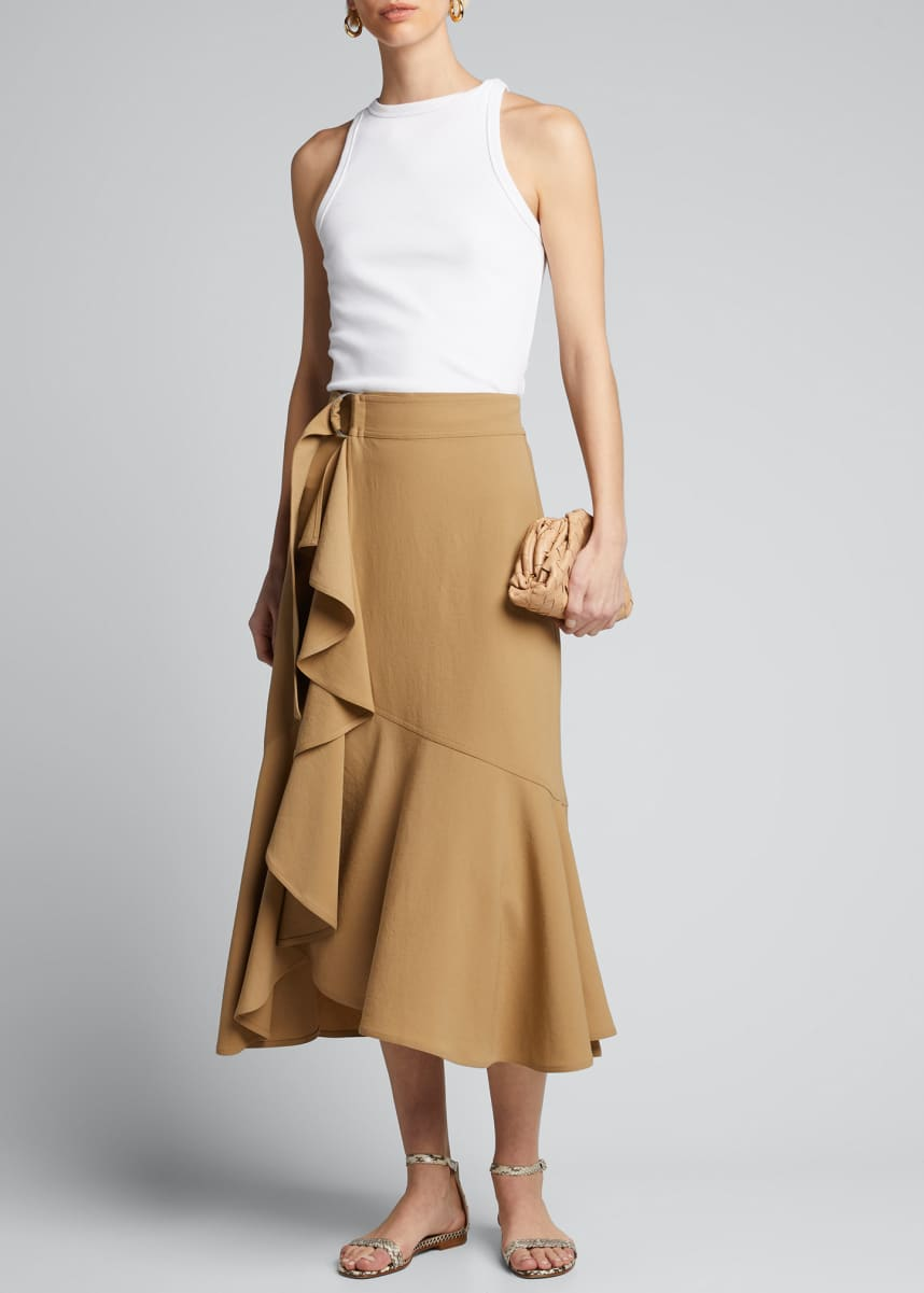A.L.C. Pierre Belted Draped Skirt