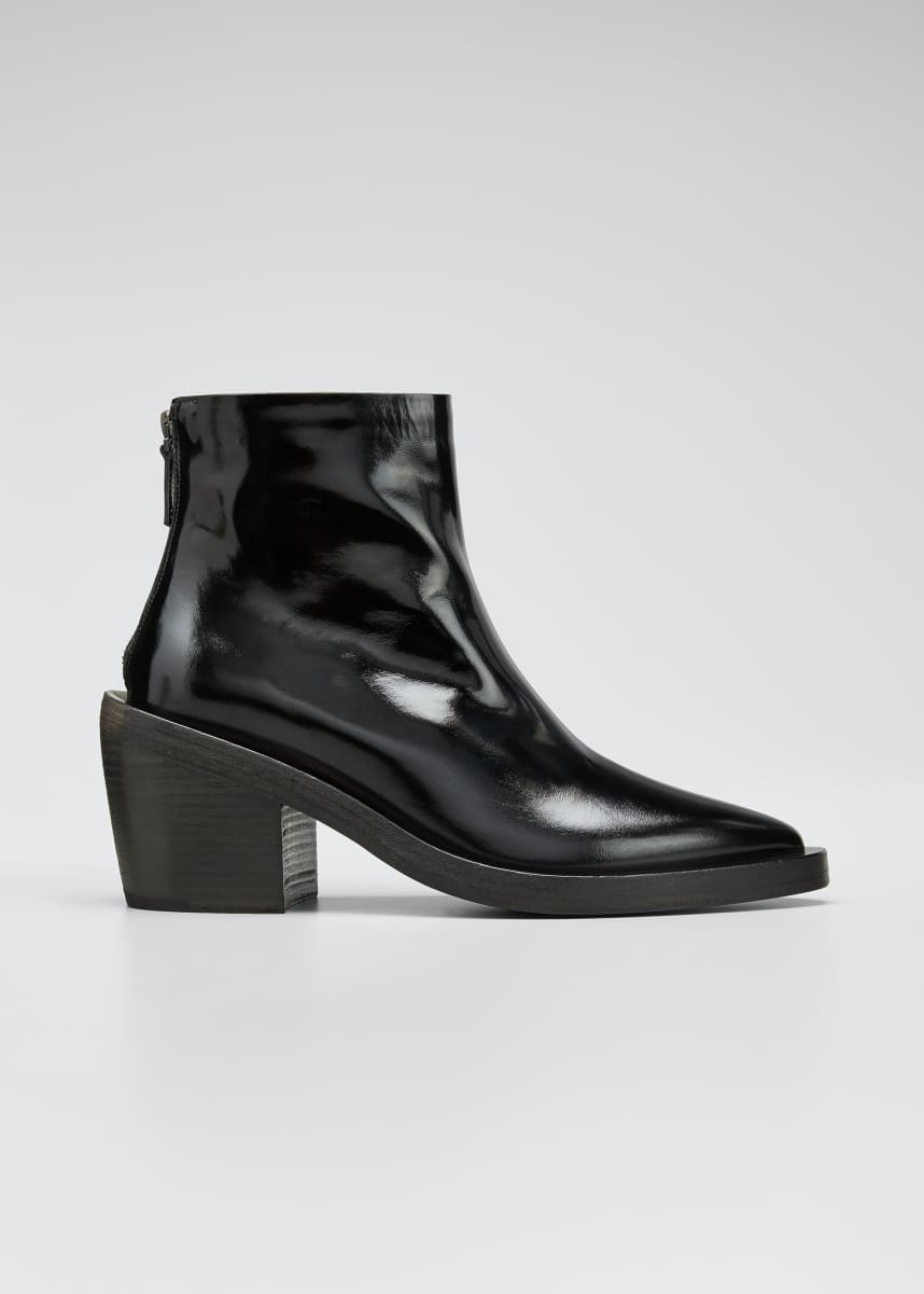 Marsell Coneros Patent Leather Booties