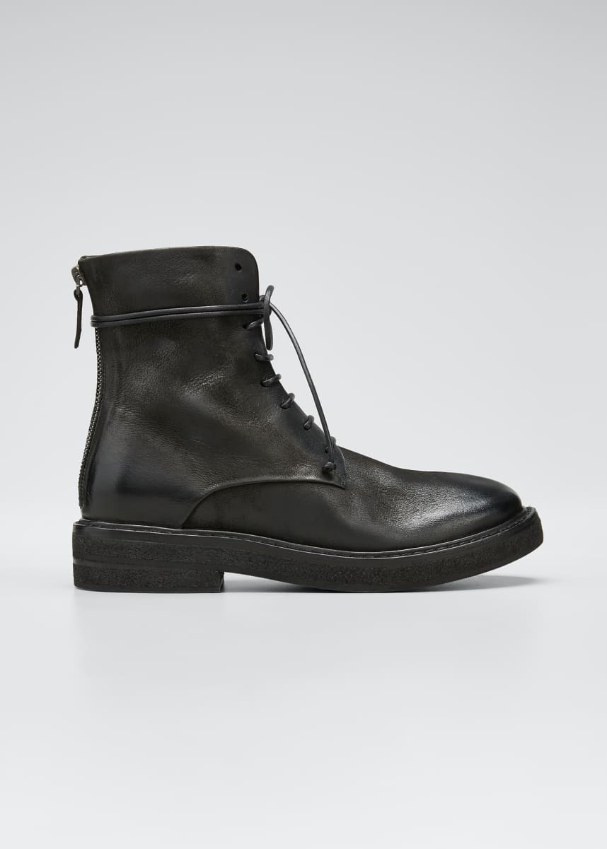 Marsell Parrucca Lace-Up Combat Boots