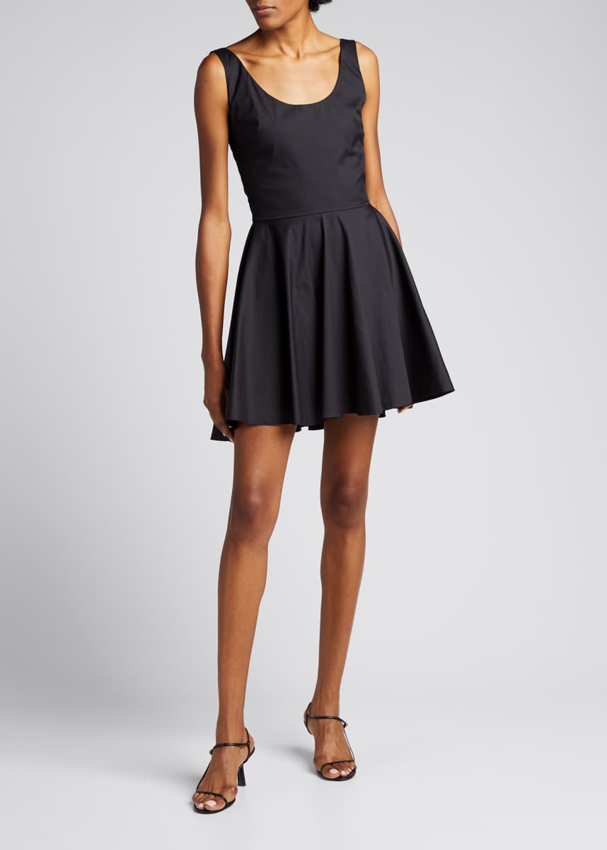 Caroline Constas Kylie Sleeveless Fit-and-Flare Mini Dress