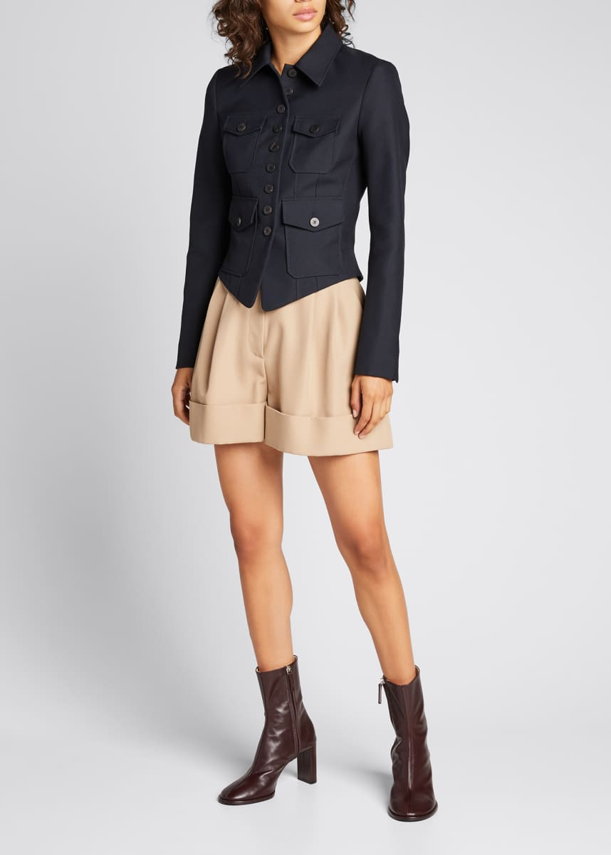Chloe Military Wool Fitted Jacket