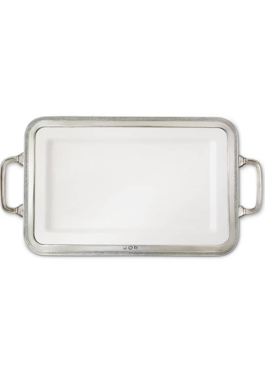 Match Luisa Rectangular Medium Platter with Handles