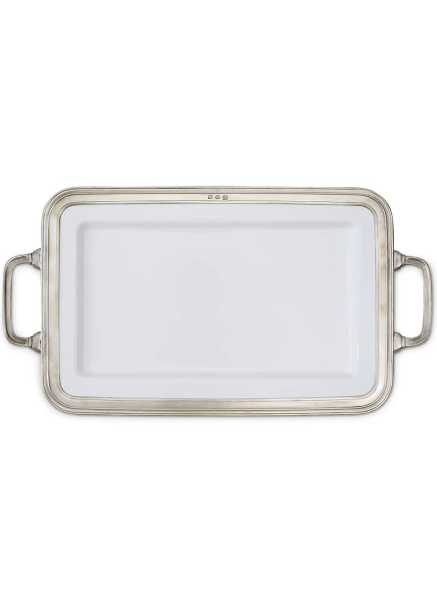 Match Gianna Rectangular Medium Platter with Handles