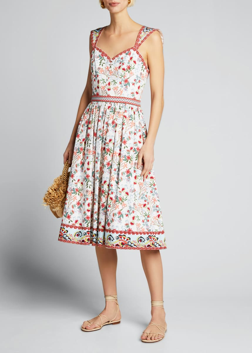 Alice + Olivia Portia Sweetheart Gathered Dress