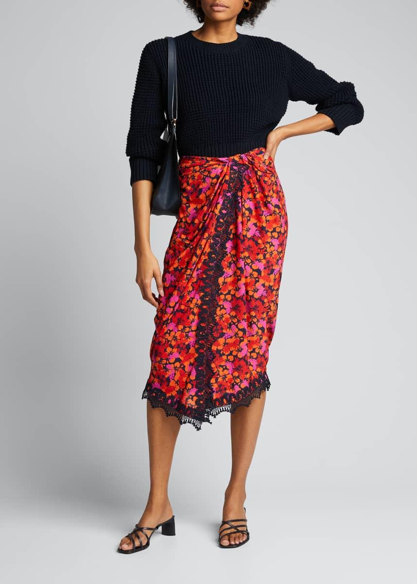 Derek Lam 10 Crosby Mini Skirt Black Tulip Style Women/'s 2 /& 4 NWT $295