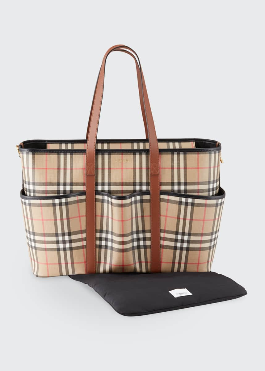 Burberry Parker Check Diaper Tote Bag