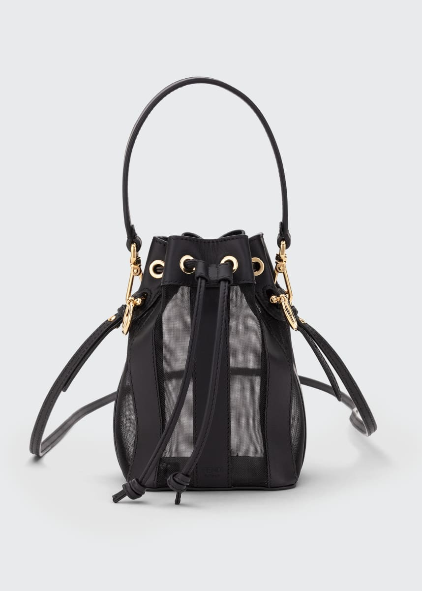 Fendi Mon Tresor Mini Leather & Mesh Bucket Bag