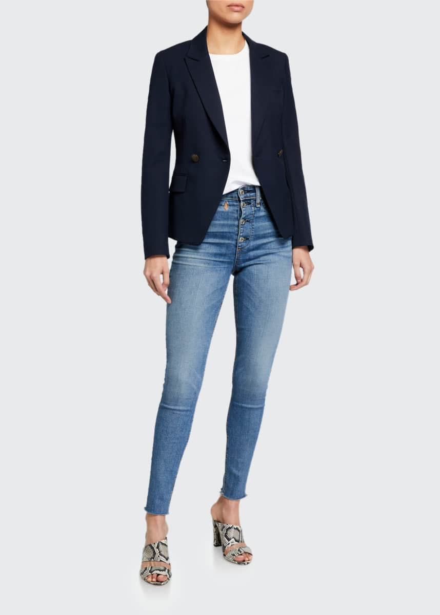 Rag & Bone Nina High-Rise Skinny Jeans w/ Button Fly