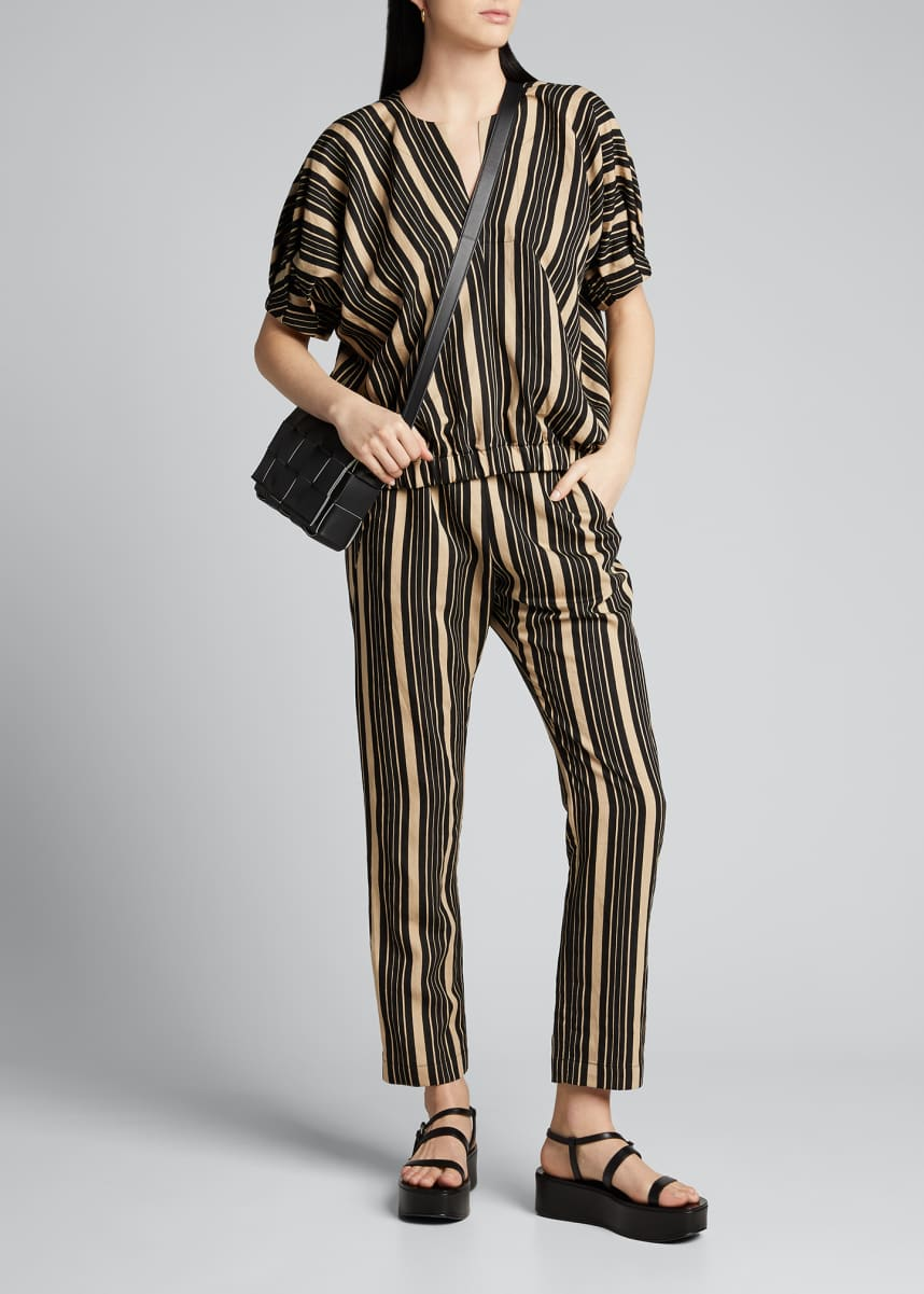 Zero + Maria Cornejo Rae Striped Bomber Top